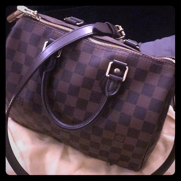 53e0f48bb960 Louis Vuitton Handbags - Louis Vuitton Speedy 25 Bandouliere Damier Ebene